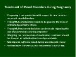treatment of mood disorders during pregnancy