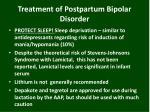 treatment of postpartum bipolar disorder