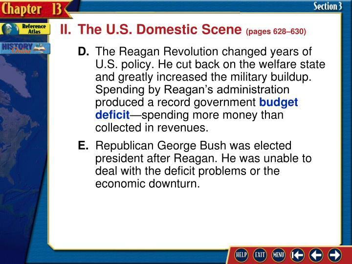 II.The U.S. Domestic Scene