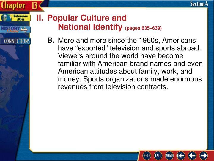 II.Popular Culture and