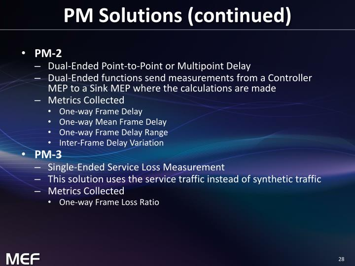 PM Solutions (continued)
