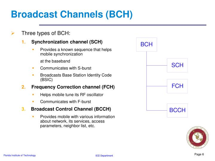 Broadcast Channels (BCH)