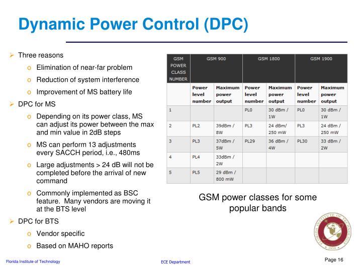 Dynamic Power Control (DPC)