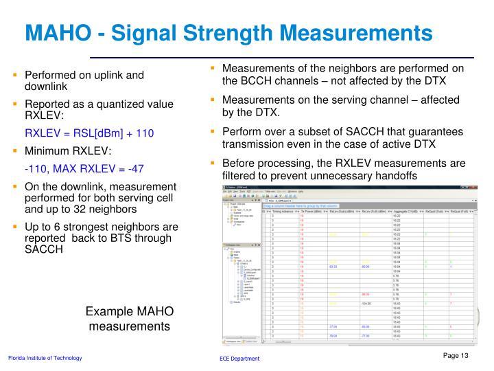 MAHO - Signal Strength Measurements