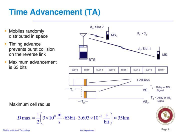 Time Advancement (TA)
