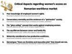 critical aspects regarding women s access on romanian workforce market