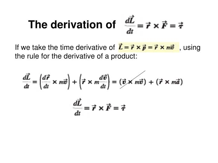 The derivation of