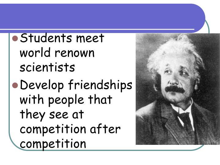 Students meet world renown scientists