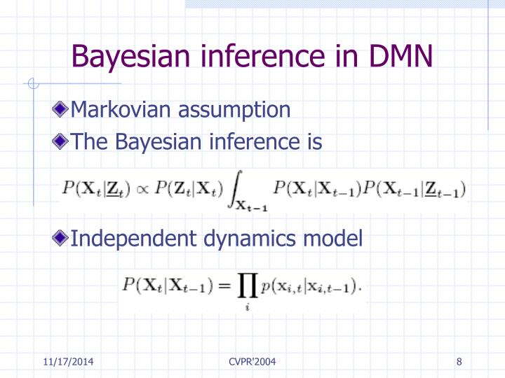 Bayesian inference in DMN