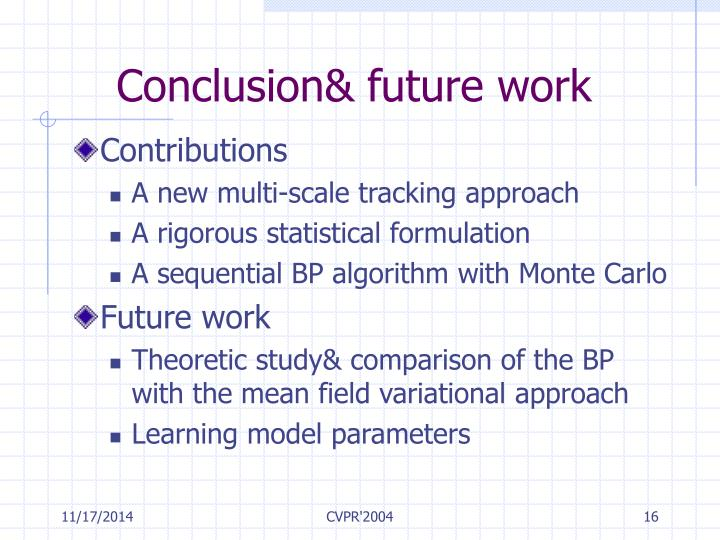 Conclusion& future work