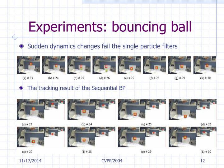 Experiments: bouncing ball