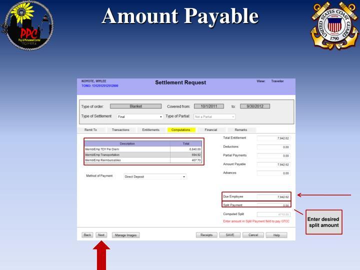 Amount Payable