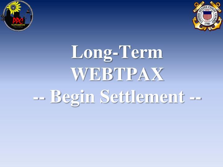 Long-Term WEBTPAX