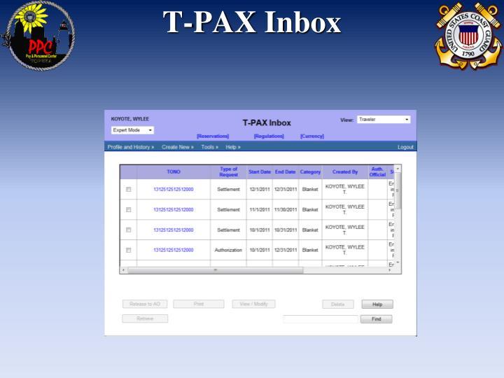 T-PAX Inbox