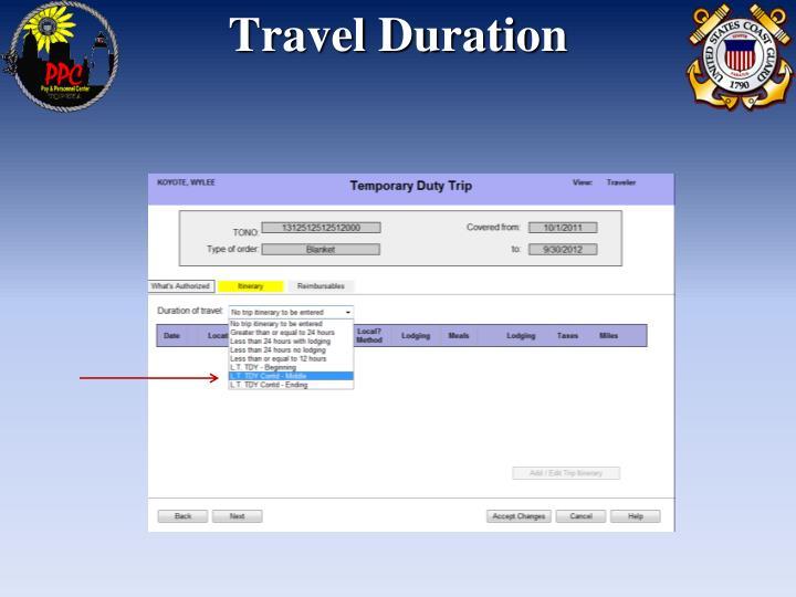 Travel Duration