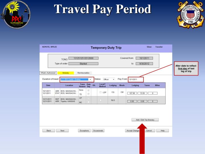 Travel Pay Period