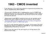 1963 cmos invented
