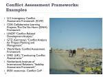 conflict assessment frameworks examples
