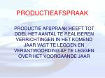 productieafspraak