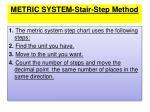 metric system stair step method