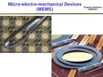 micro electro mechanical devices mems