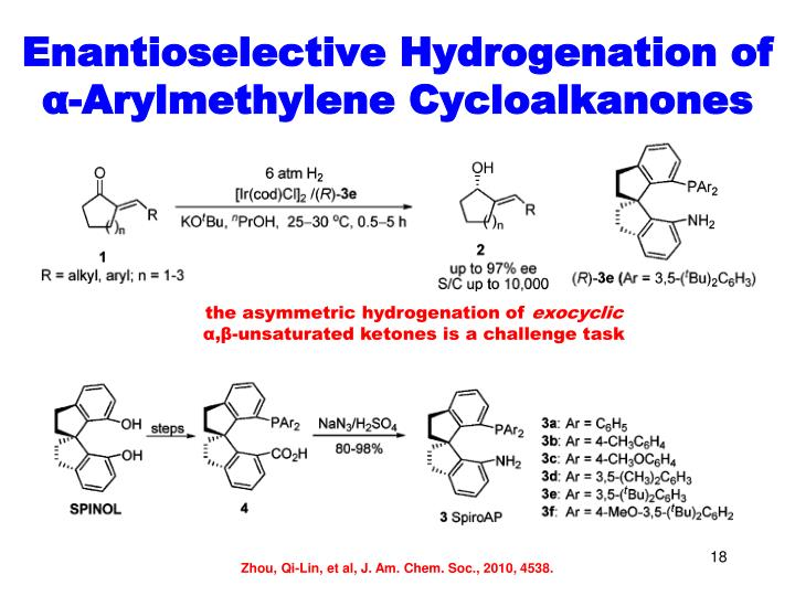 Enantioselective Hydrogenation of
