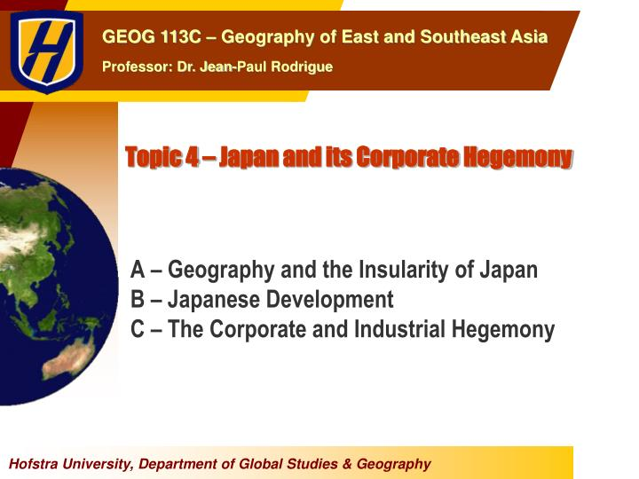 topic 4 japan and its corporate hegemony n.