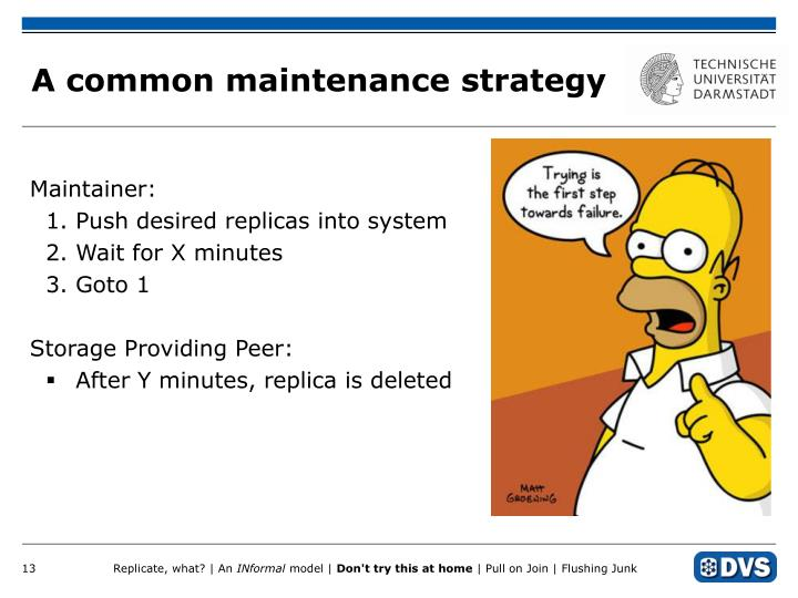 A common maintenance strategy