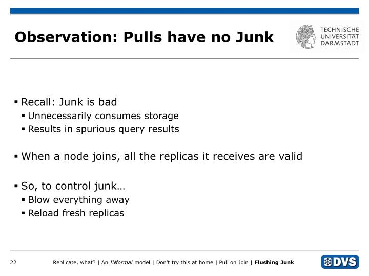 Observation: Pulls have no Junk