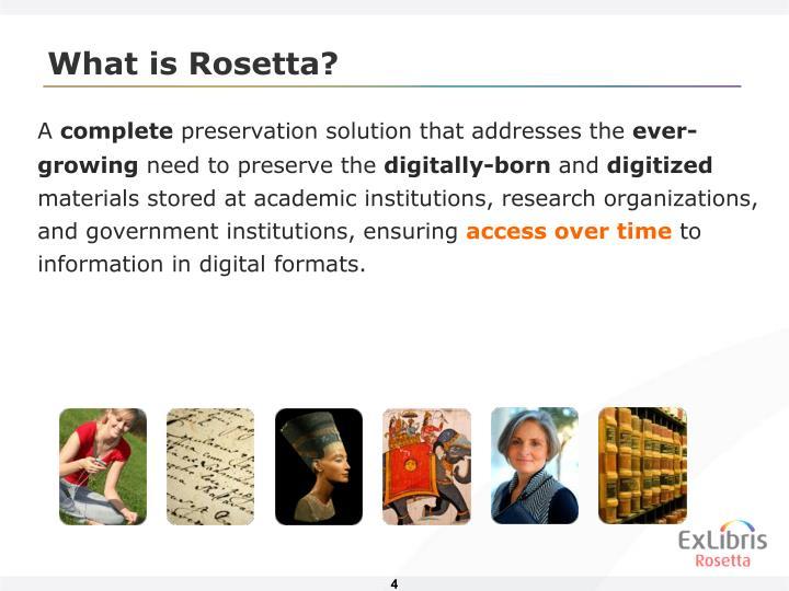 What is Rosetta?