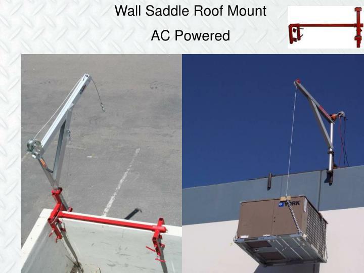 Wall Saddle Roof Mount