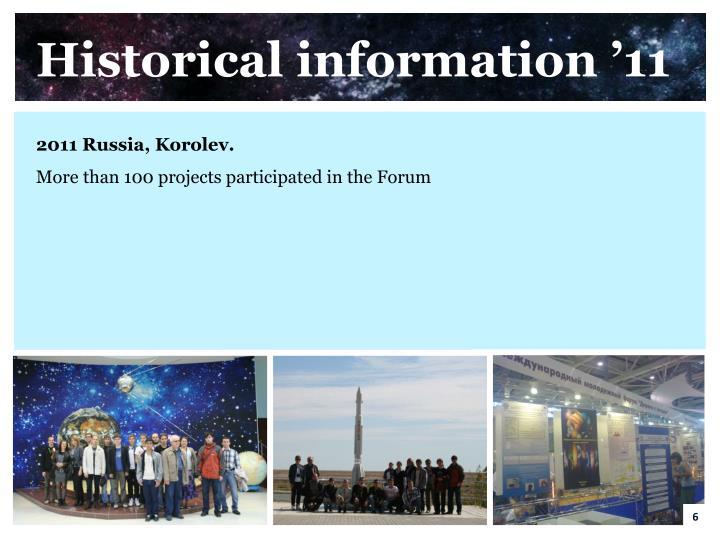 Historical information '11
