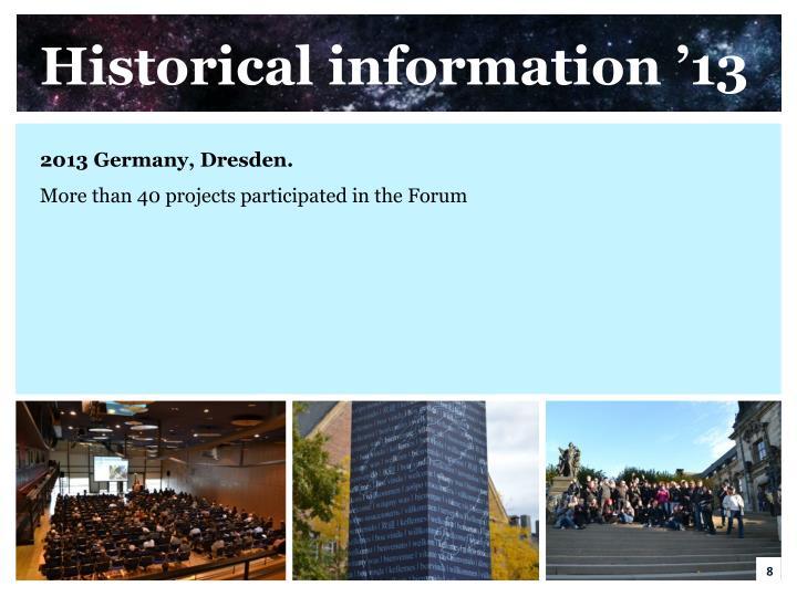 Historical information '13