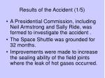 results of the accident 1 5