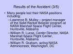 results of the accident 3 5