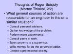 thoughts of roger boisjoly morton thiokol 2 2
