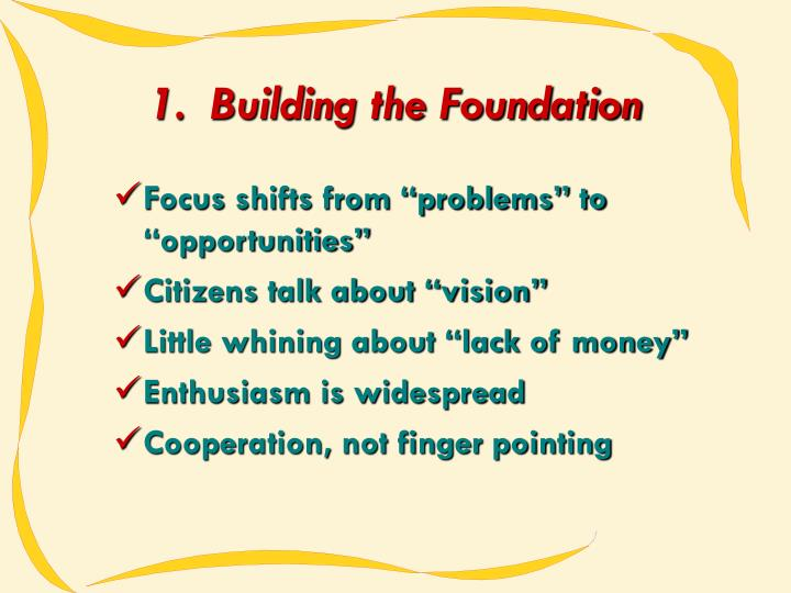 1.  Building the Foundation