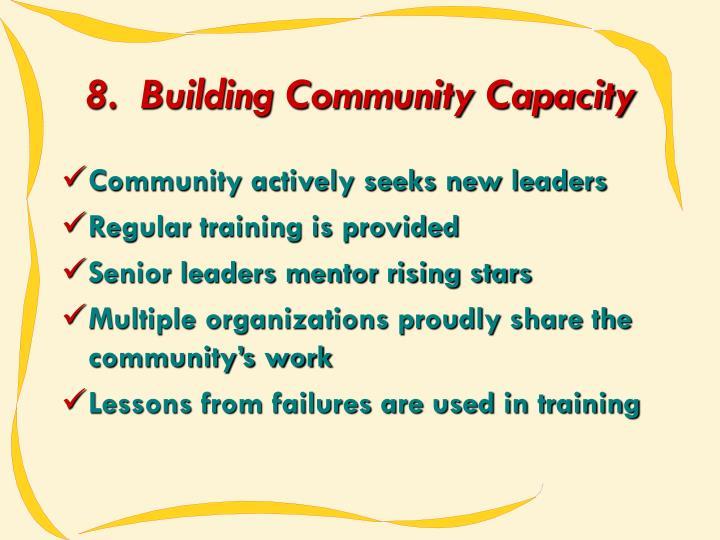 8.  Building Community Capacity