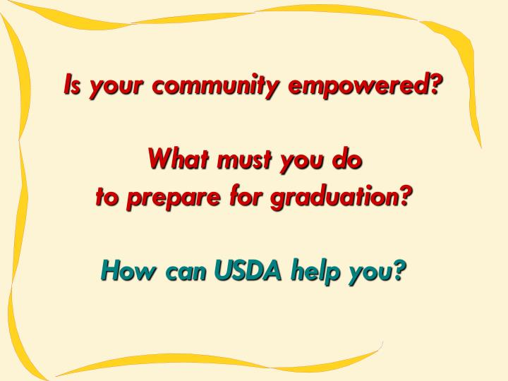 Is your community empowered?