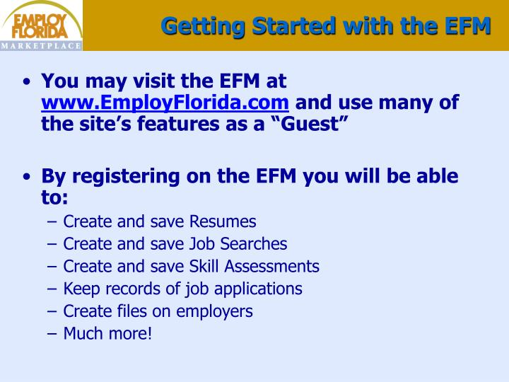 Getting Started with the EFM