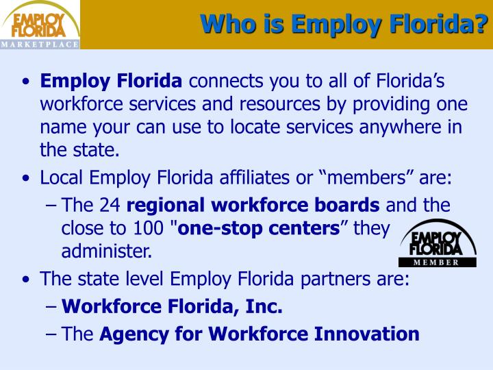 Who is employ florida