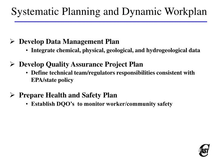 Systematic Planning and Dynamic Workplan