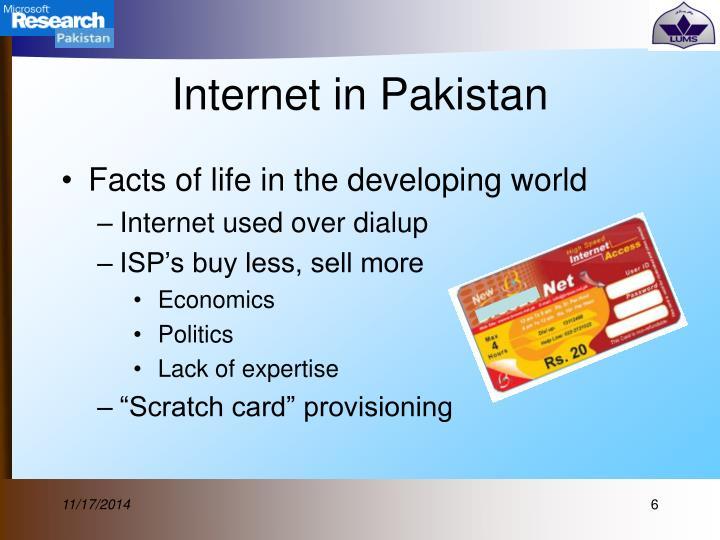 Internet in Pakistan