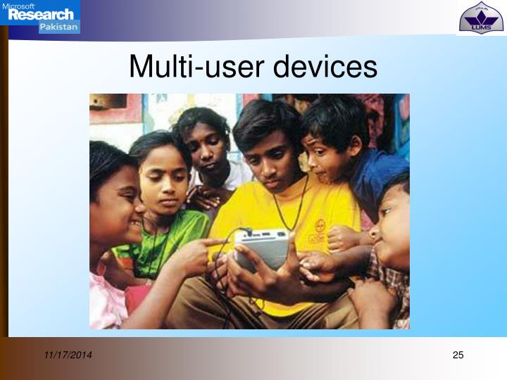 Multi-user devices