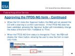 approving the fpds ng form continued2
