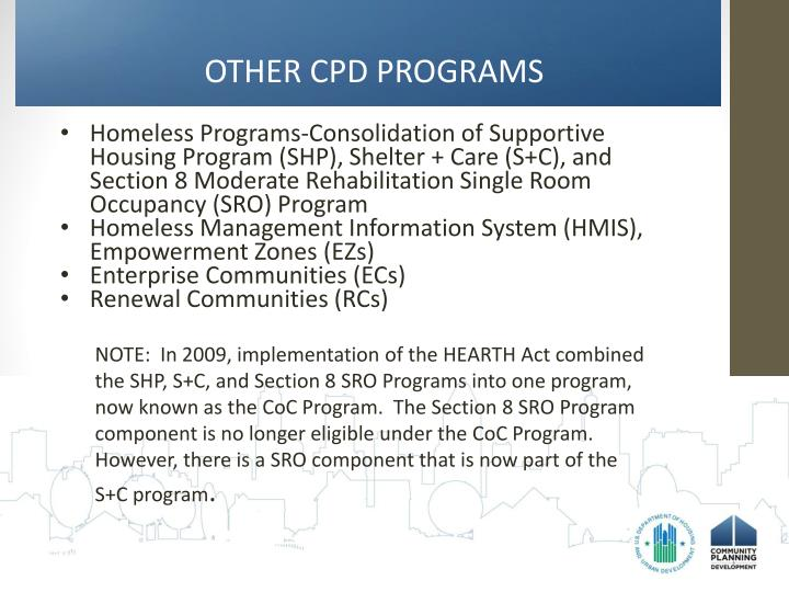 OTHER CPD PROGRAMS