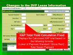changes to the dvp lease information1