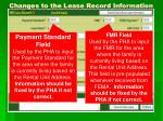changes to the lease record information1