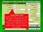 changes to the lease record information3