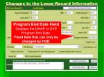 changes to the lease record information6